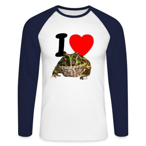 Langarm-Shirt - I love Pacman Frogs (Baseball-Style) - Männer Baseballshirt langarm