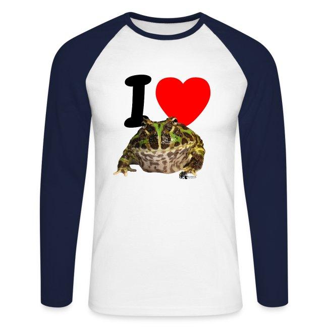"Langarm-Shirt - ""I love Pacman Frogs"" (Baseball-Style)"