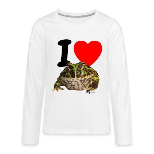 Langarm-Shirt - I love Pacman Frogs - Teenager Premium Langarmshirt