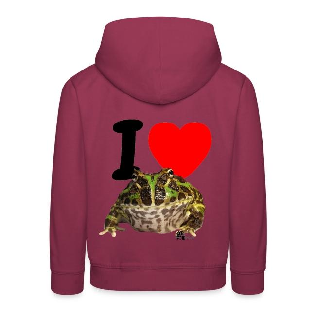 """Kapuzen-Pullover - """"I love Pacman Frogs"""""""