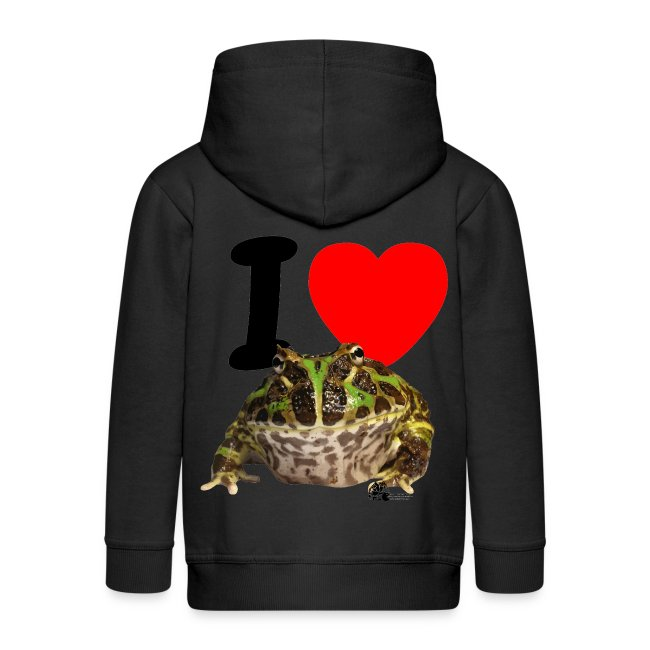 "Kapuzen-Jacke - ""I love Pacman Frogs"""