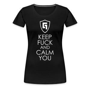 Theme: Keep F*ck And Calm You - Women's Premium T-Shirt