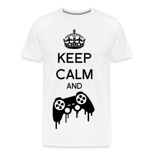 Keep Calm and Game blanc - T-shirt Premium Homme