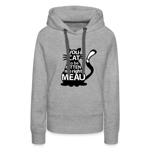Hipster-Cat  - Frauen Premium Hoodie