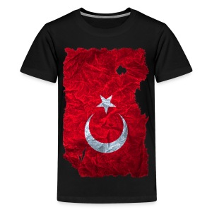 Türkei Flagge Shirt vintage used look - Teenager Premium T-Shirt