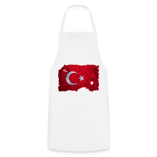 Türkei Flagge vintage used look - Kochschürze