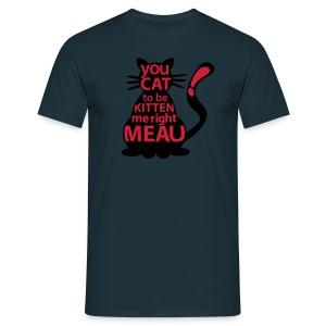 Hipster-Cat  - Männer T-Shirt