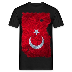 Türkei Flagge Shirt vintage used look - Männer T-Shirt