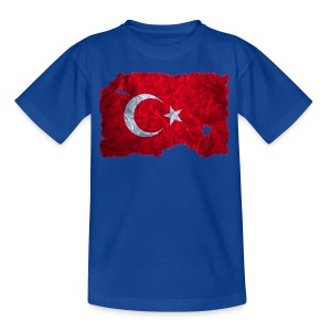Türkei Flagge Shirt vintage used look - Teenager T-Shirt