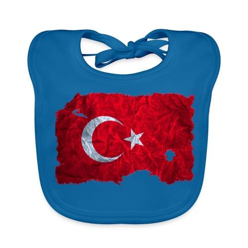 Türkei Flagge vintage used look - Baby Bio-Lätzchen