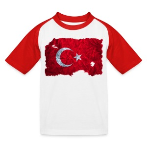 Türkei Flagge Shirt vintage used look - Kinder Baseball T-Shirt