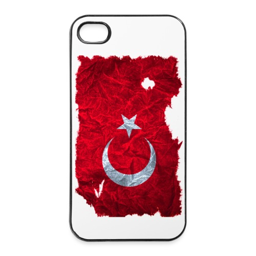 Türkei Flagge vintage used look - iPhone 4/4s Hard Case