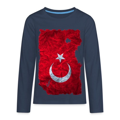 Türkei Flagge Langarmshirt vintage used look - Teenager Premium Langarmshirt
