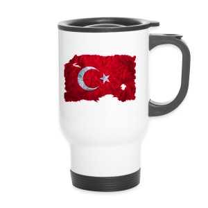 Türkei Flagge vintage used look - Thermobecher
