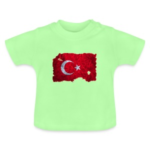 Türkei Flagge Shirt vintage used look - Baby T-Shirt