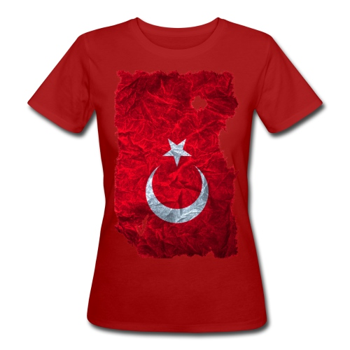 Türkei Flagge Shirt vintage used look - Frauen Bio-T-Shirt