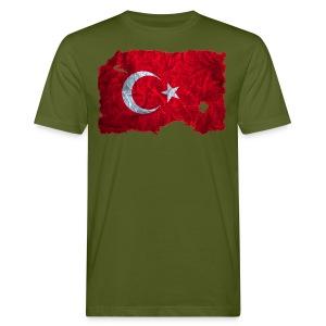 Türkei Flagge shirt vintage used look - Männer Bio-T-Shirt