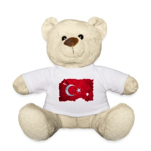Türkei Flagge vintage used look - Teddy