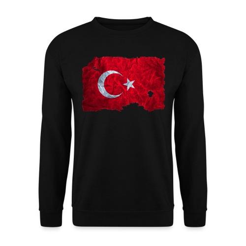 Türkei Flagge Pullover vintage used look - Männer Pullover