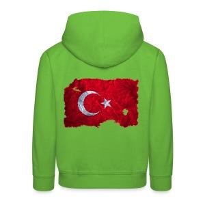 Türkei Flagge Kapuzenpullover vintage used look - Kinder Premium Hoodie