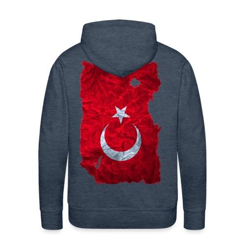 Türkei Flagge Kapuzenpullover vintage used look - Männer Premium Hoodie