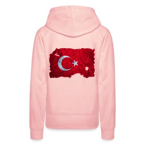 Türkei Flagge Kapuzenpullover vintage used look - Frauen Premium Hoodie