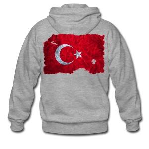 Türkei Flagge Kapuzenjacke vintage used look - Männer Premium Kapuzenjacke