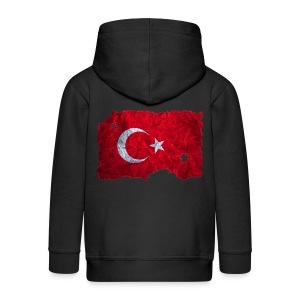 Türkei Flagge Kapuzenjacke vintage used look - Kinder Premium Kapuzenjacke