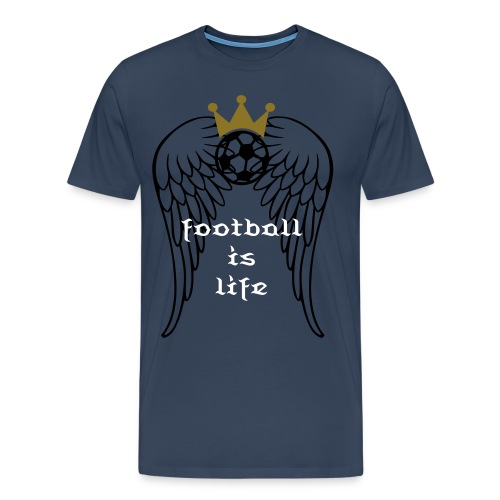 shirt football is life - Mannen Premium T-shirt