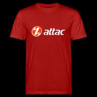 T-Shirts ~ Männer Bio-T-Shirt ~ attac-Logo-vorn