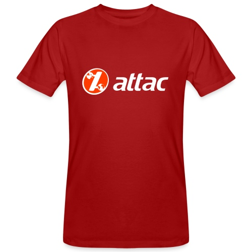 attac-Logo-vorn - Männer Bio-T-Shirt