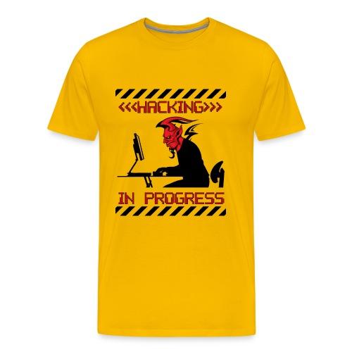 Hacking In Progress - Jaune - T-shirt Premium Homme