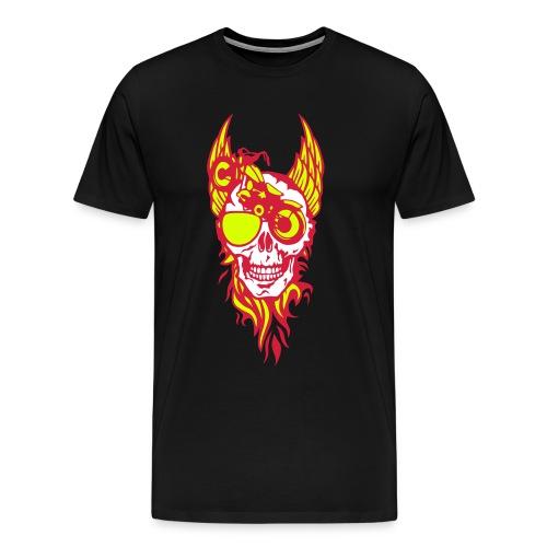 Biker tete de mort aile - T-shirt Premium Homme