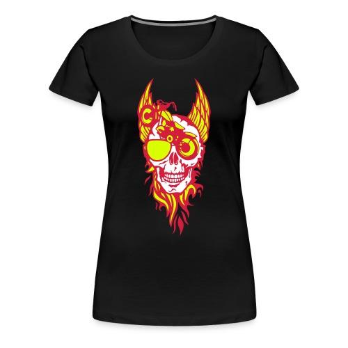 Biker tete de mort aile - T-shirt Premium Femme