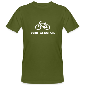 burn fat, not oil - Männer Bio-T-Shirt