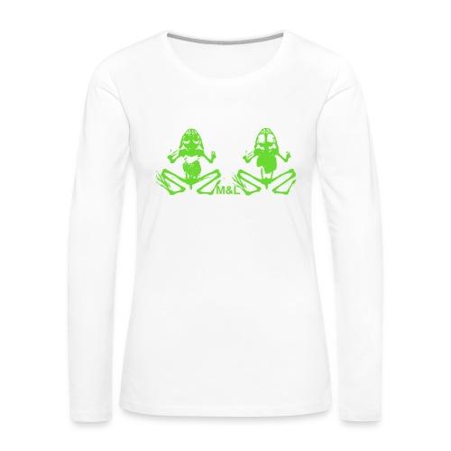 Langarm-Shirt M&L BONES - Frauen Premium Langarmshirt