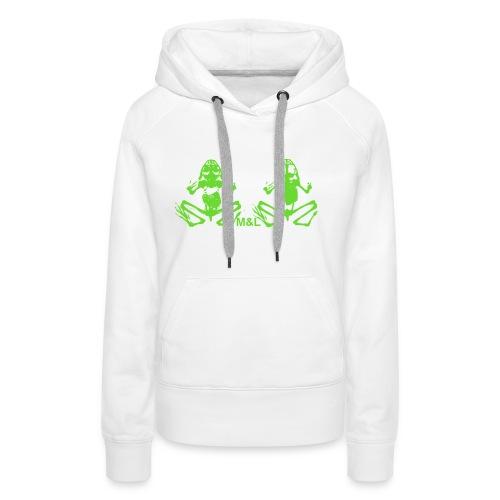Kapuzen-Pullover M&L BONES - Frauen Premium Hoodie