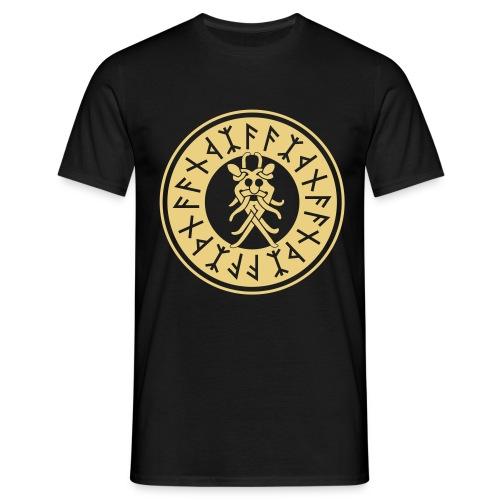 Runenkreis mit Odinsmaske - Männer T-Shirt