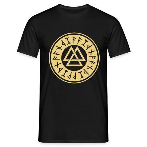 Runenkreis mit Walknut - Männer T-Shirt