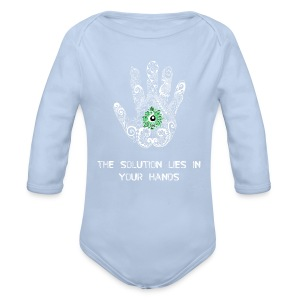 Solution in hand White - Longlseeve Baby Bodysuit