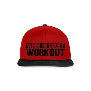 When In Doubt Workout Snap Back  By Fitness Pro Master  - Snapback Cap