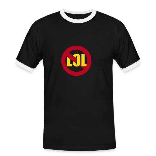 slim contrast tee homme - T-shirt contrasté Homme