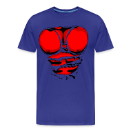 T-Shirts ~ Men's Premium T-Shirt ~ Ripped Muscles Red, six pack, chest t-shirt