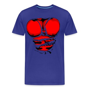Ripped Muscles Red, six pack, chest t-shirt - Men's Premium T-Shirt
