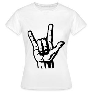 Women's Rock Tee - White - Women's T-Shirt