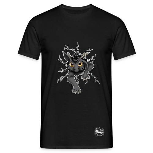 Huch?!- Drachi Dragon stuck grau/grey Frontdruck - Männer T-Shirt