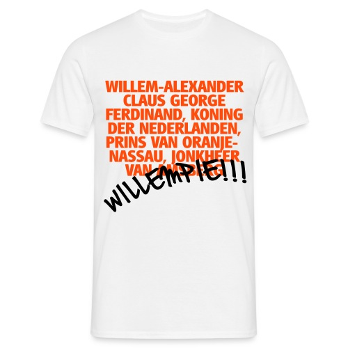 Grappig Koningsdag shirt Willempie!!! - Mannen T-shirt
