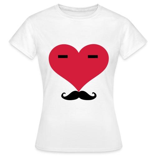 T-shirt moustache - T-shirt Femme