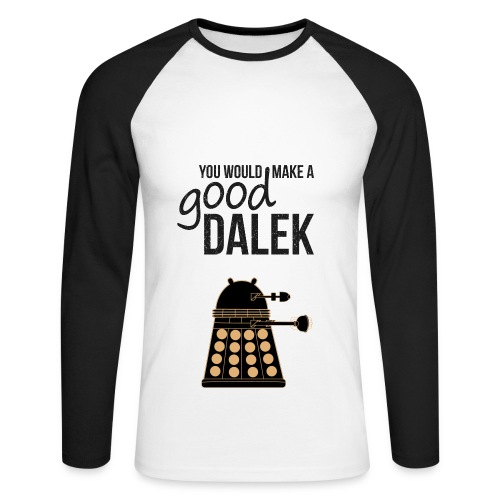 Dalek Doctor Who t-shirt (mens)  - Men's Long Sleeve Baseball T-Shirt