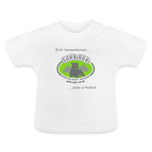 Baby Shirt, Logo mit Text - Baby T-Shirt